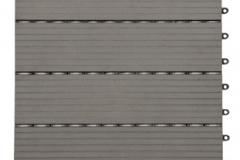 WPC dlaždice přímková - šedý kámen - BET komposit