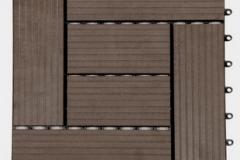 WPC dlaždice zámecká - tmavý kaštan - BET komposit